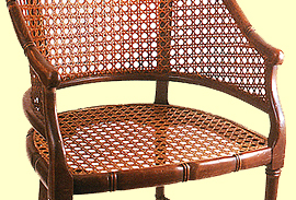 Pressed Cane (also Known As Machine Cane Or Cane Webbing) Is A Commercially  Woven Cane Mesh That Is Inserted Into A Groove Around A Chair Seat In  Imitation ...